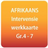 AFRIKAANS intervensie werkkaarte - Gr.4 - 7