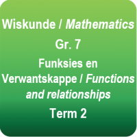 MATHEMATICS topic worksheet - Functions and relationships - Gr.7