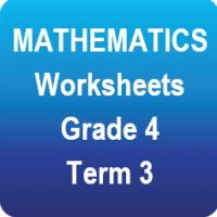 Mathematics worksheets - Gr.4 - Term 3