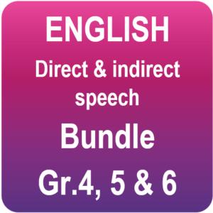 English bundle - direct & indirect speech - PowerPoint and worksheet
