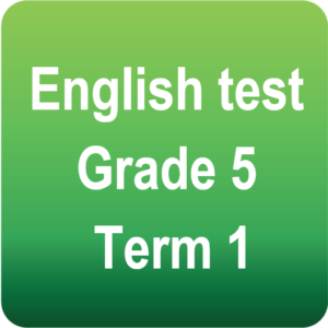 English test - Gr.5 - Term 1