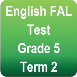 English test - Gr.5 - Term 2
