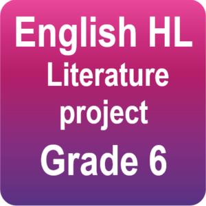 English - Literature project - Grade 6